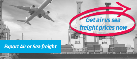 Air freight quote and sea freight quote - Try our freight calculator to work out what is best for you
