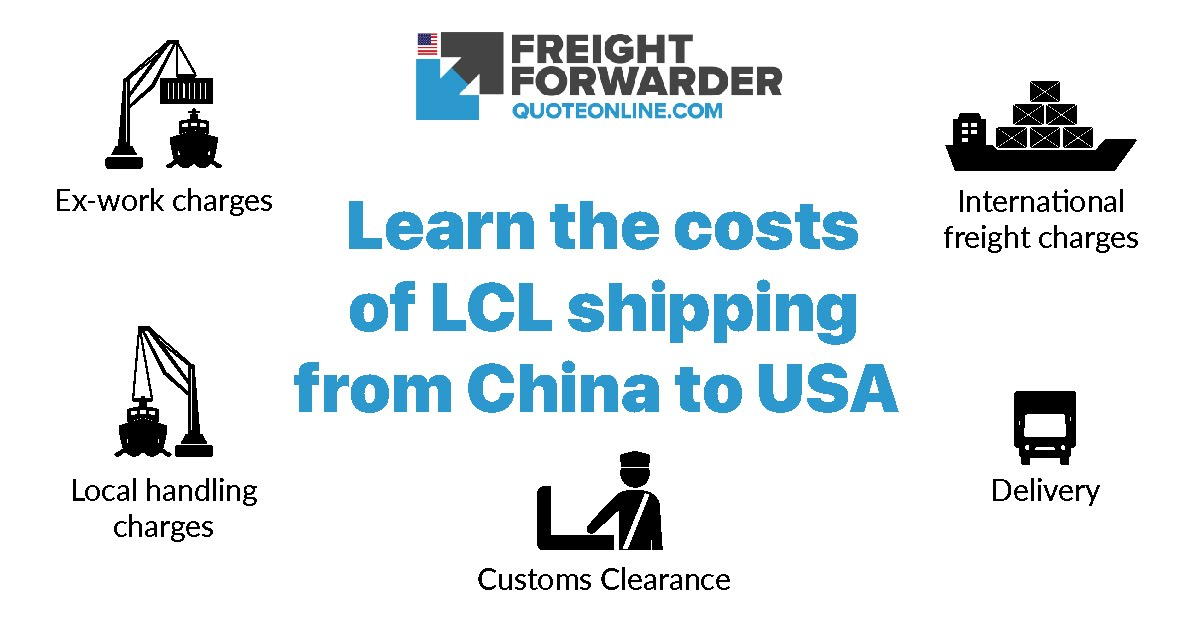 LCL shipping from China to USA - Learn the costs involved