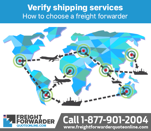 How to choose a freight forwarder - Verify the freight forwarder has the shipping services you need