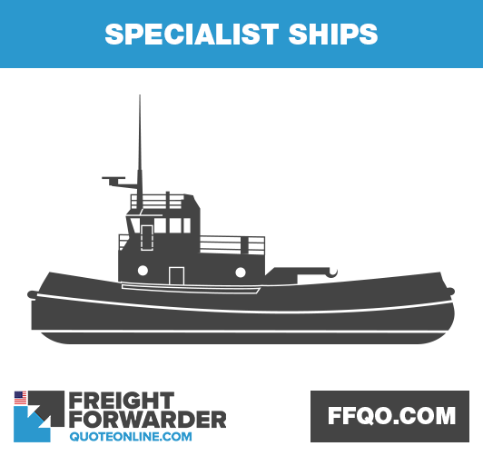 Specialist ships in international shipping