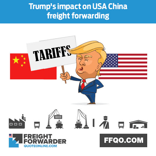 Has Trump's increase on trade barriers affected USA China freight forwarding